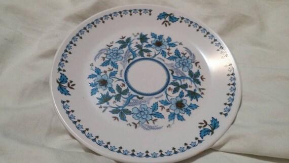 On Sale Noritake Progression China Blue Moon Pattern 8.25 inch SaladDessert Plate Vintage Kitchen