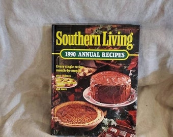 On Sale Southern Living, 1990 Annual Recipes,  Cook Book, Hardback Book for Meal Planning/Cooking/Baking
