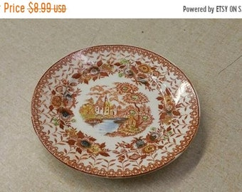 On Sale Unmarked Nasco Mountain Woodland 6.25 inch Salad/Dessert Plate. Vintage Kitchen. Replacement Dish, River City Scene