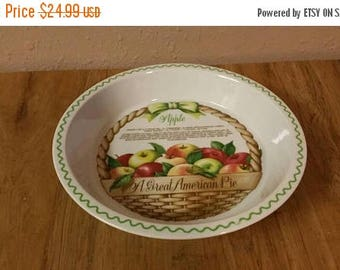 On Sale Great American Pie Fine Porcelain Ovenware by Shafford 1982 Apple Pie Baking Dish with Recipe