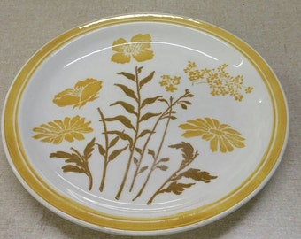 """On Sale Jamestown China Ironstone 10 inch """"Yellow Flower"""" Dinner/Chop Plate Vintage Kitchen Replacement Dish"""