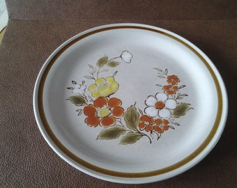 On Sale Mountain Wood Collection 10 inch Stoneware Dinner Plate Trellis Blossom Design Replacement Dish