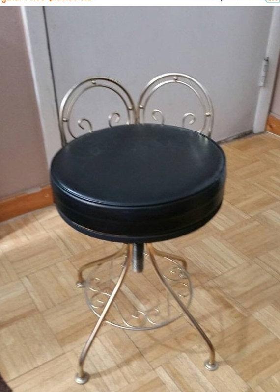 On Sale 1960/'s Hollywood Regency Brass Rectangular Vanity Stool or Bench