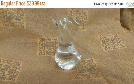 Sur vente Murano clair bébé Figurine canard de verre presse papier décoratif Home Decor oiseau