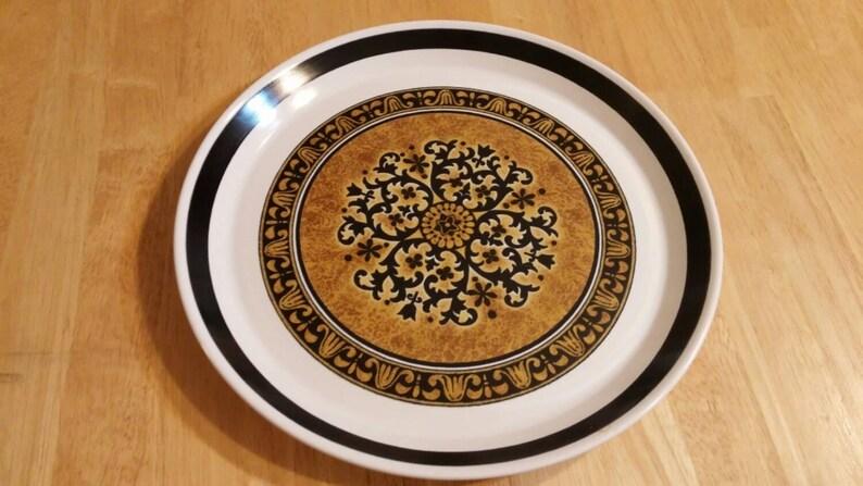 On Sale Mikasa Studio Kraft 10 58 inch Cortez Pattern DinnerChop Plate Vintage Kitchen Replacement Dish