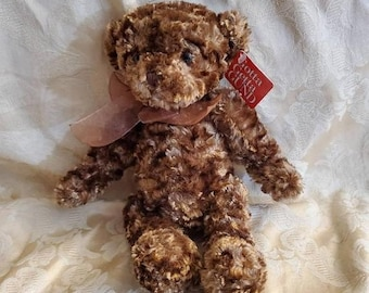 On Sale Gund Glossy Bear, 11 inch Jointed Bear, Vintage Plush Toy, Collectible Teddy Bear, 1982 Toy, Original Tags