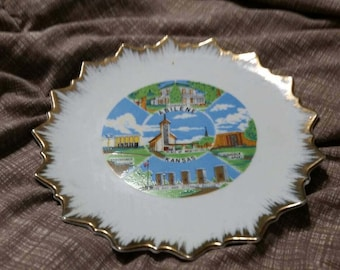 On Sale Abilene, Kansas 8 inch Decorative Souvenir Plate or Wall Hanging Lugenes Made in Japan
