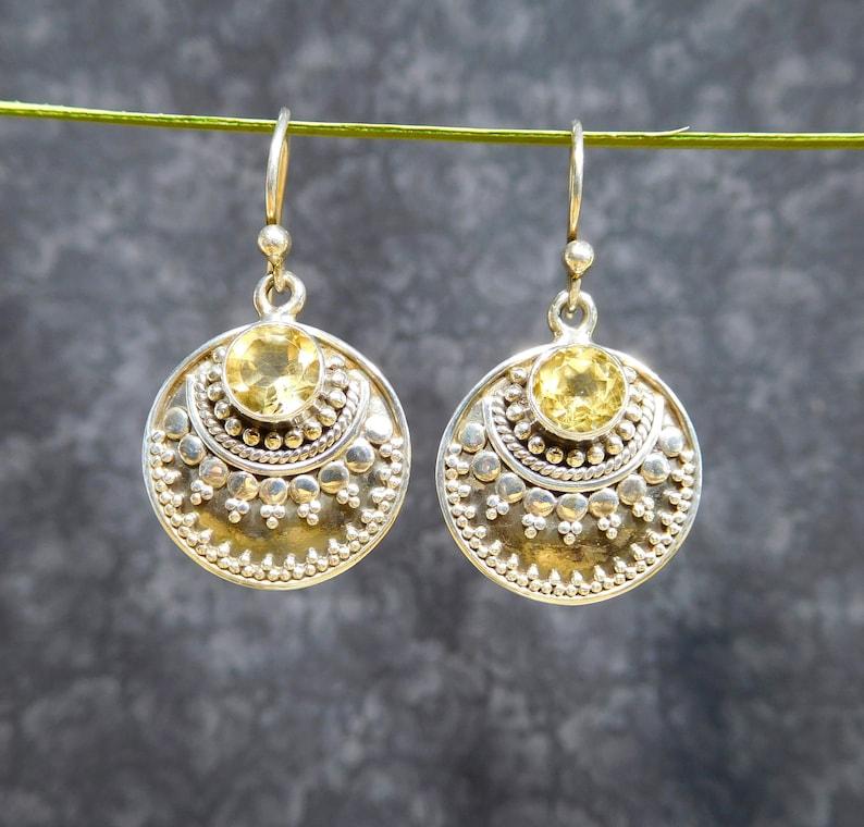 Citrine Jewelry Citrine Earrings Petite Earrings Citrine Sterling Earrings Boho Earrings PETITE Citrine Sterling Silver Earrings
