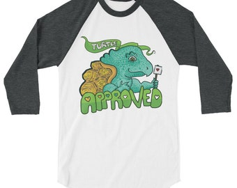 Turtle Approved LOGO 3/4 sleeve shirt