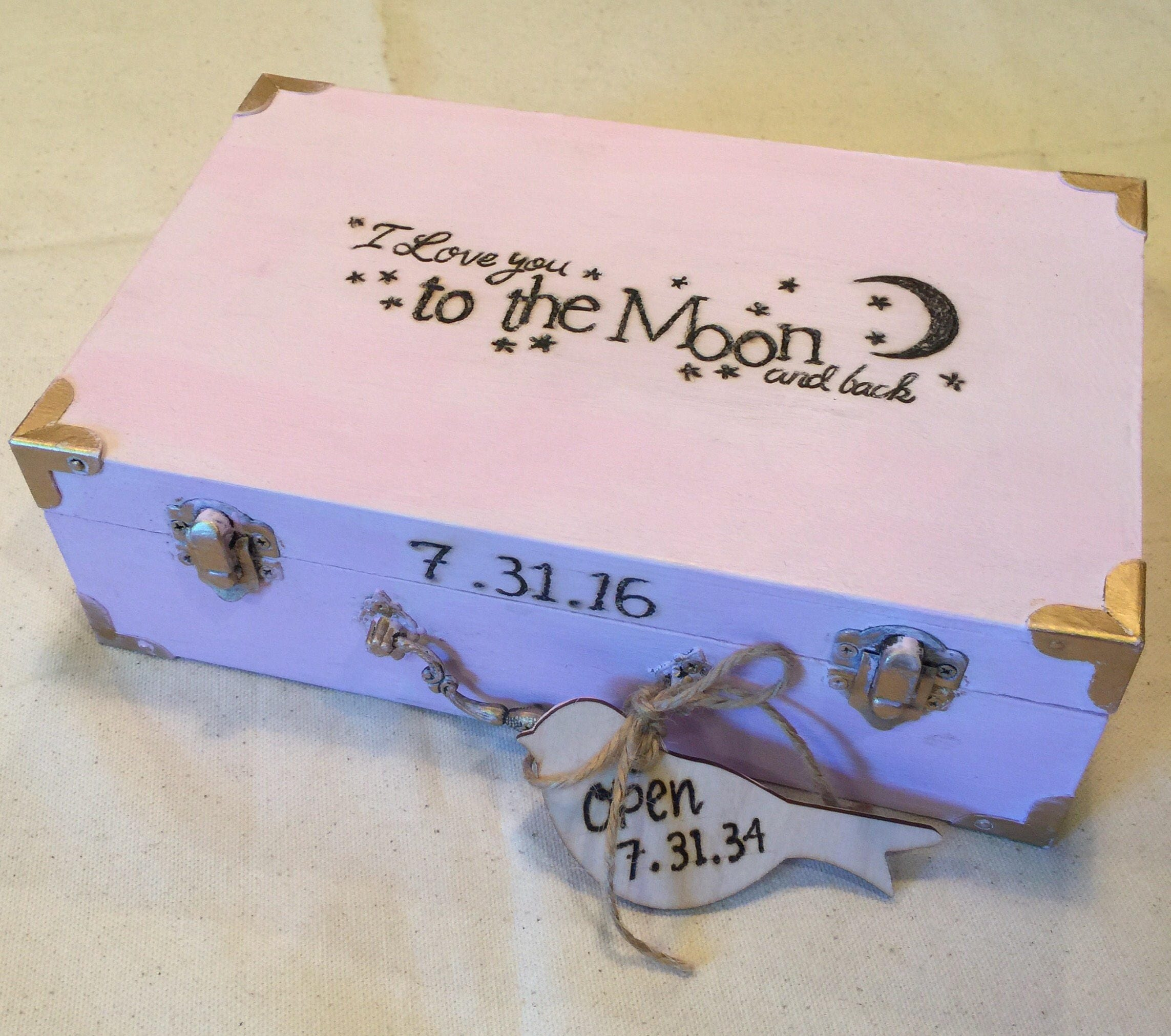Baby Time Capsule Box First Birthday Time Capsule Ideas