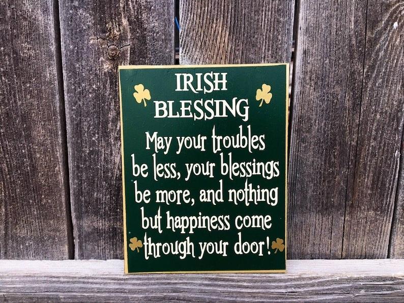 Irish Blessing St Patricks Day Wood Sign Irish Blessing Etsy