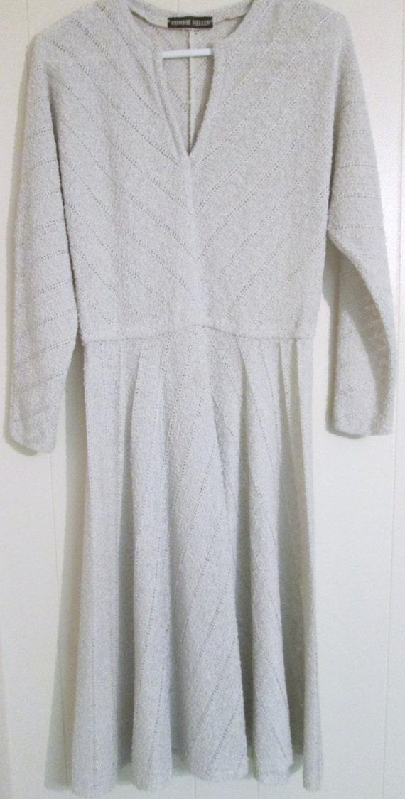 Vintage Ronnie Heller textured knit dress