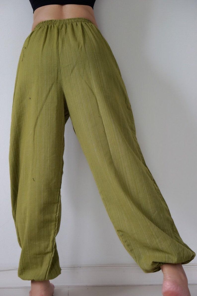45835548442001 CH0588 unisex green pants Yoga Massage Pants Thai Yoga Pants   Etsy