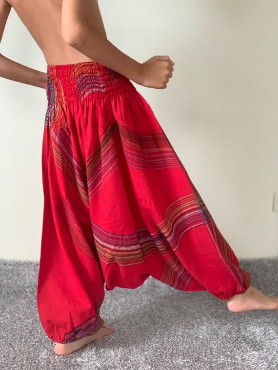 Harem Pants Unisex Low Crotch Yoga Trousers, KD0058 Kids Samurai Pants