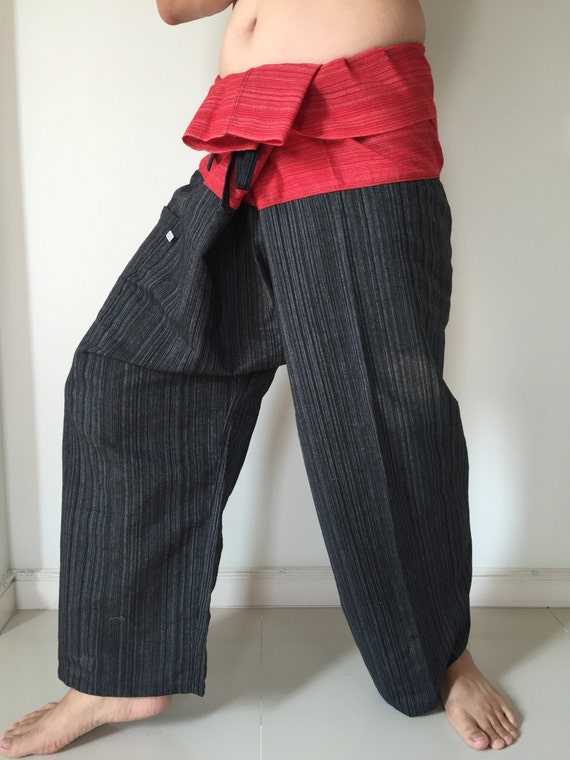 TCP0076  LIGHT BROWN Thai fishermanYoga are pants Free-size Will fit men or woman
