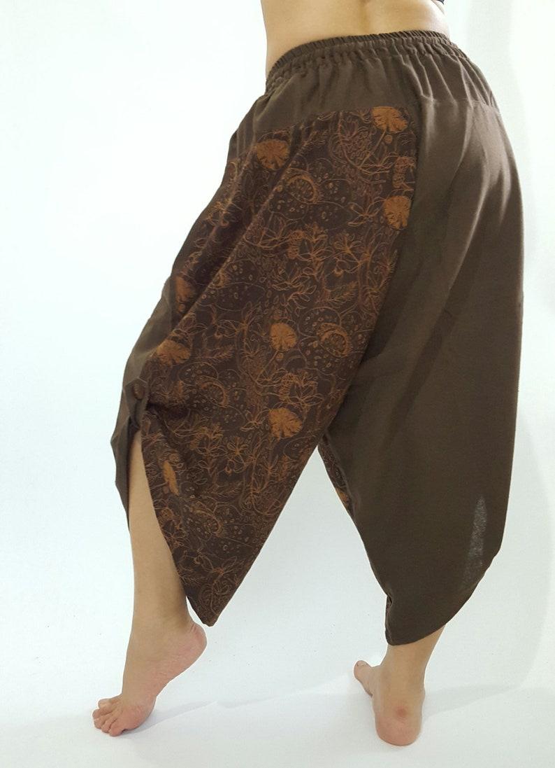 HC0228 Super soft Coconut button up cotton pants In Brown