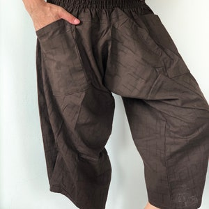 SS Men/'s Low Crotch Droprise Jersey Front Buttom Pocket Short   Casual Harem Short Trouser