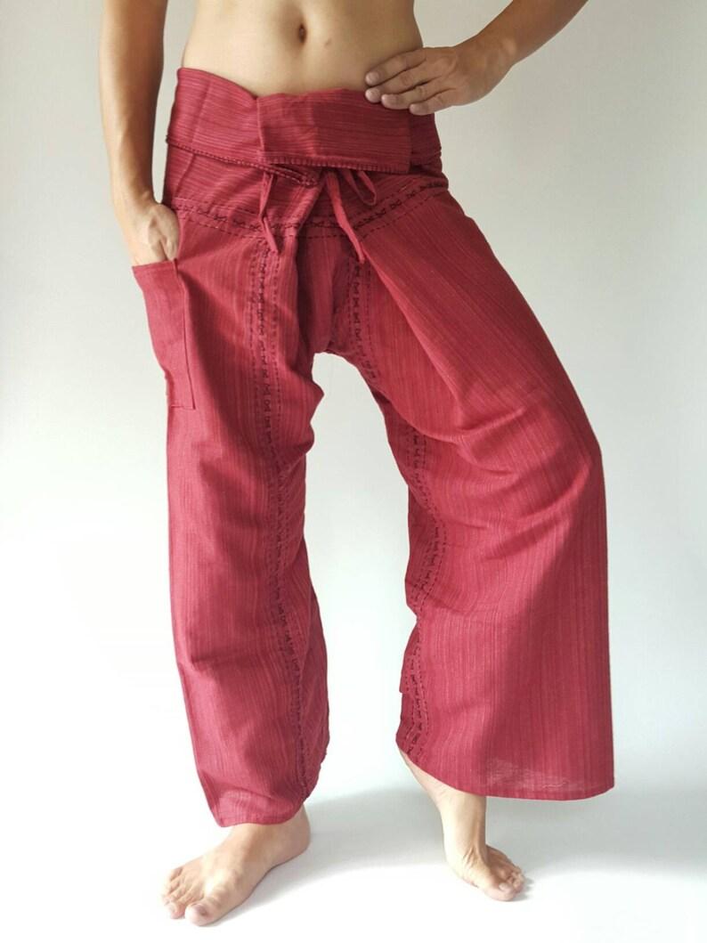 TC8003 Hand Sewing Inseam design for Thai Fisherman Pants Wide Leg pants Wrap pants Unisex pants