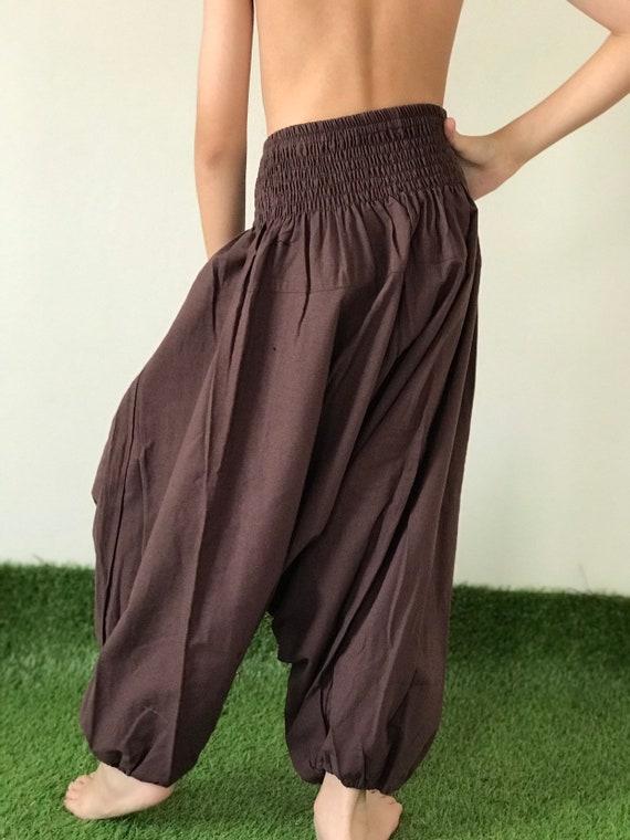 KD0230 Kids Harem Pants Unisex Low Crotch Yoga Trousers,
