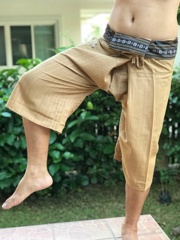 Pantalon jambe large TC3001 pantalon de pêcheur pêcheur thaï, Wrap pantalon, unisexe pantalon, pantalon de pêcheur de thaï, coton c8c297