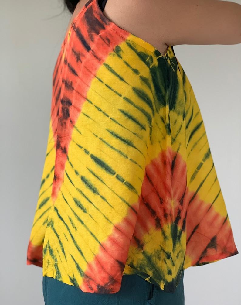 perfect for yoga super comfort TD0041 Women/'s Tie Dyed Top tie dye
