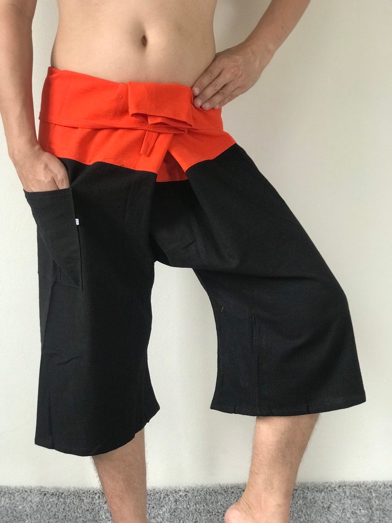 Cotton Unisex pants Thai Fisherman Pants Wrap pants F30046 Thai Fisherman Pants Wide Leg pants