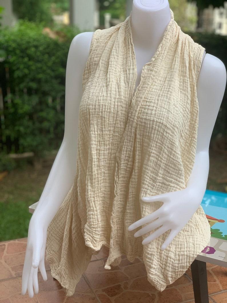 CG0982 Lady blouse Cotton Gauze Handmade Ethically Unisex Comfortable to Wear