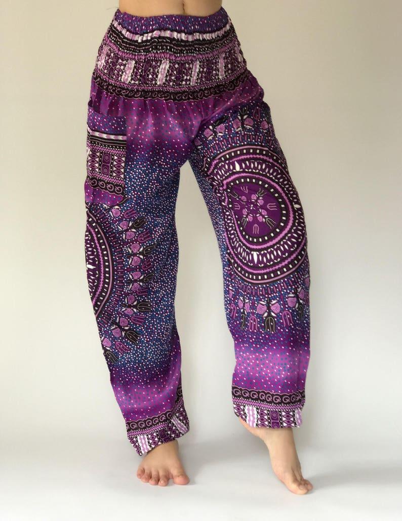SM0003 Aztec smock pant Gypsy Pants Rayon Pants,Aladdin Pants Maxi Pants Boho Pants purple pants chic