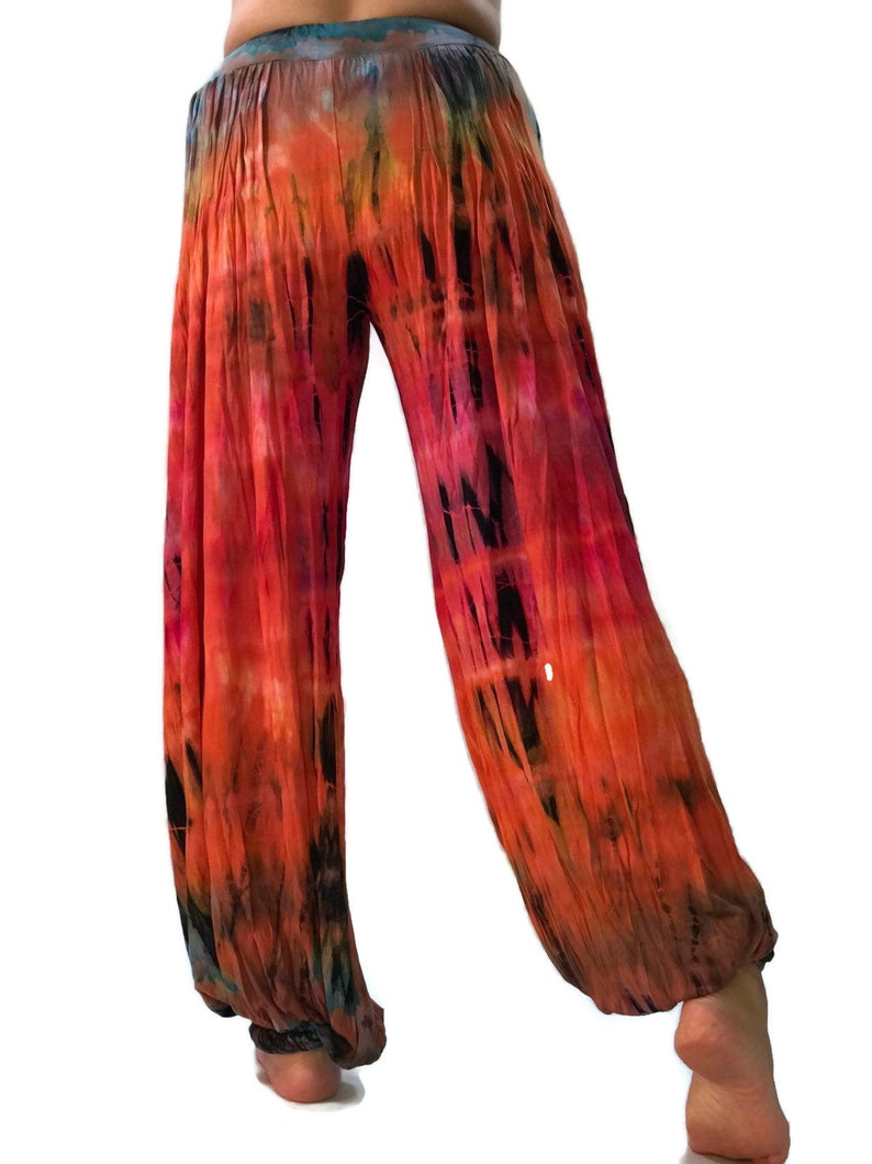 YG0404 Orange Tiedry  Yoga Pants High Waist solf pants