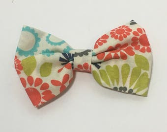 Fabric Bow Tie Hairbow * Hair clip * baby girl