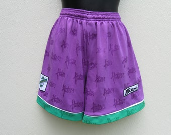 acc8f5fbe HALF PRICE Mitre Hibernian Football Club Purple And Green Shorts For Sports  Jogging Soccer Running Any Sports Size 30 32 Vintage Condition