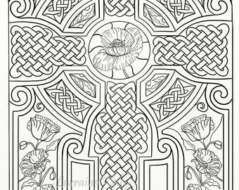 10 X Celtic Knots Mandala Adult Coloring Pages