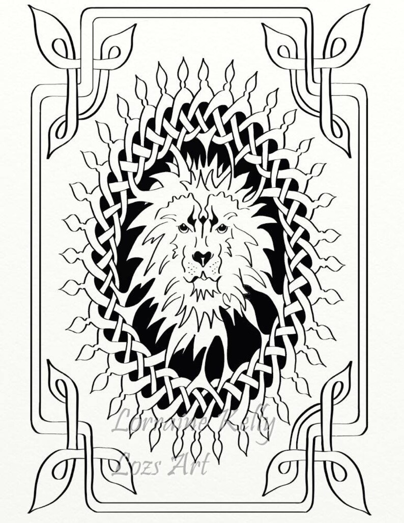 10 Celtic Knot Adult Coloring Pages Instant Pdf Download To Etsy