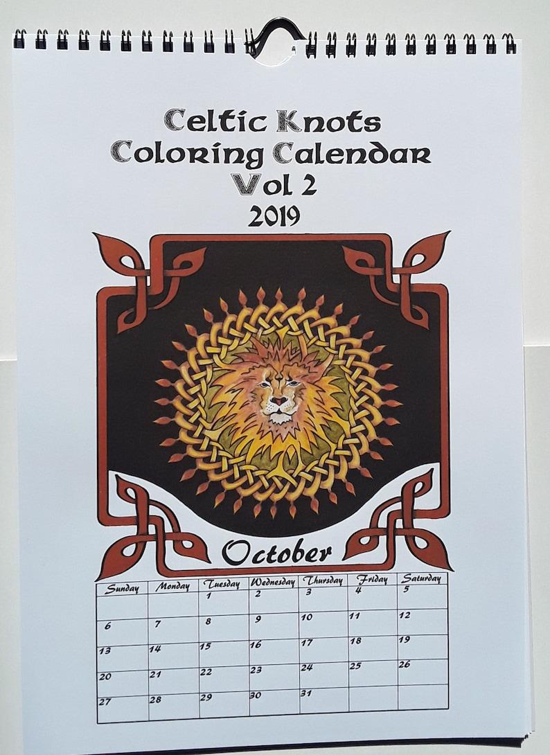 Kleurplaten Keltische Mandala.Keltische Knopen Volwassen Kleurplaten 2019 Kalender Vol 2 A4 Etsy