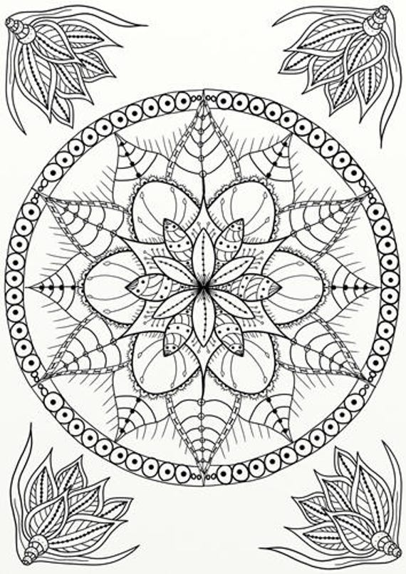 10 X Tangles Celtic Knots Mandala Adult Coloring Pages