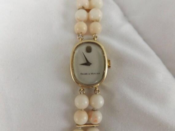 22d95684473 Baume   Mercier 14k Yellow Gold Vintage Angel Skin Coral