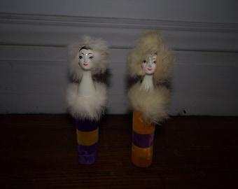 2 Rare 1950s Revlon Dresser Table Doll Made in Japan Perfume Boxes