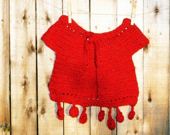 Toddler Crochet Sweater, Toddler Cardigan - 2T// toddler gifts - crochet baby sweater - childrens christmas sweater