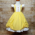 Belle Beauty and the Beast Inspired Girls Toddler Disney Everyday Princess Dress, Sizes 12 months to 12 Girls