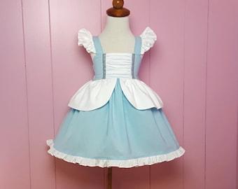 Cinderella Inspired Girls Toddler Disney Everyday Princess Dress, Sizes 12 months to 12 Girls