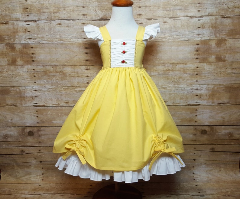 Belle Beauty and the Beast Inspired Girls Toddler Disney image 0