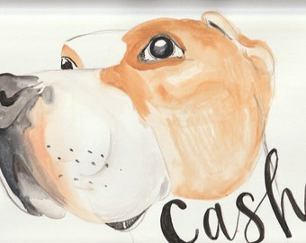 Custom Pet Portrait Watercolor