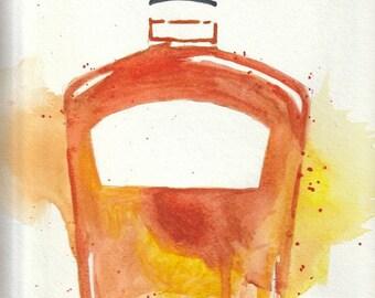 Print - Customizable Bourbon Bottle