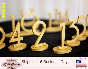 Wooden 1-30 Wedding Table Numbers, Wooden Number Signs for Table, DIY Wedding Numbers for Reception Tables, Wedding Centerpiece Decorations