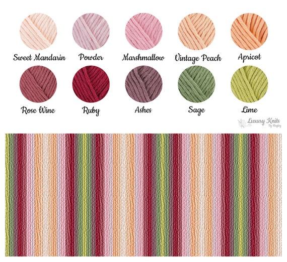 Hand Knit Soft Lightweight 100% Cotton Blanket Bohemian Throw  f7d142f80