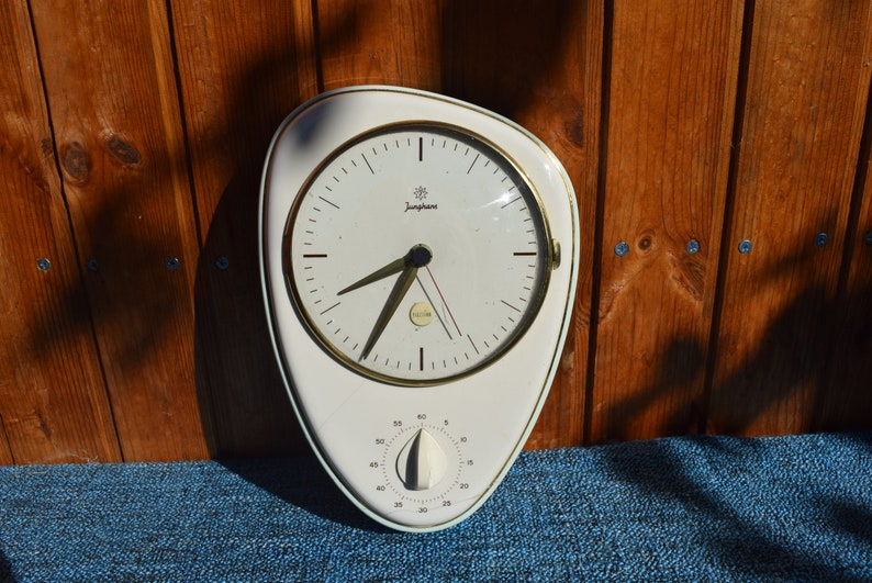 Wondrous Junghans German Max Bill Kitchen Wall Clock With Timer Electric Clock Ceramic Wall Clock Art Deco Clock Ikonic Vintage Clock Download Free Architecture Designs Rallybritishbridgeorg