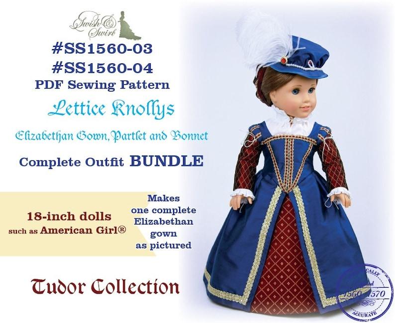 PDF Pattern Bundle SS1560-03 & SS1560-04. Lettice Knollys image 0
