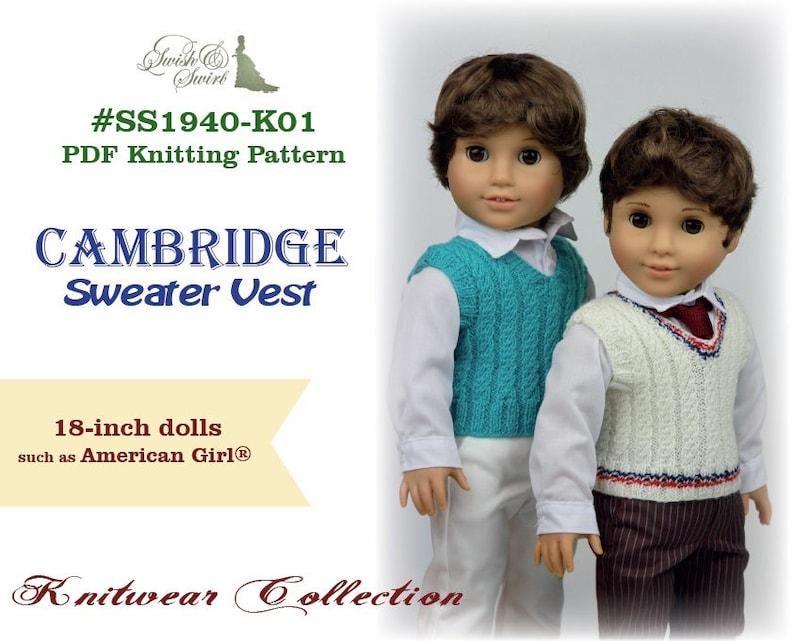 PDF Knitting Pattern SS1940-K01. Cambridge Sweater Vest for image 0