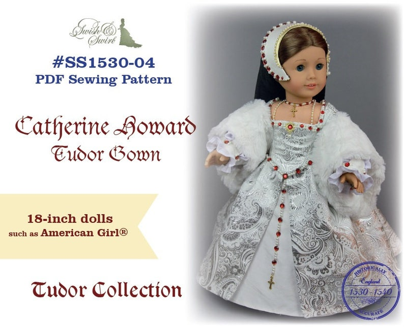 PDF Pattern SS1530-04. Catherine Howard Tudor Gown for image 0