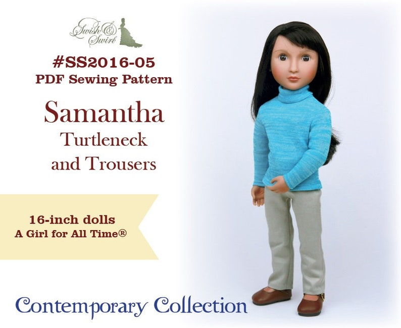 PDF Pattern SS2016-05. Samantha Turtleneck and Trousers for image 0